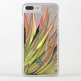 Yucca filifera with beetle Clear iPhone Case