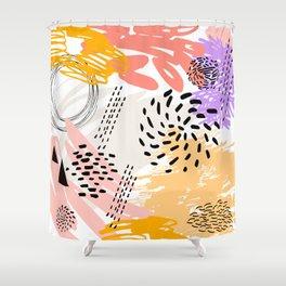 Abstract autumn pattern. Shower Curtain