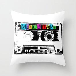 Mixed Tape Cassette Throw Pillow