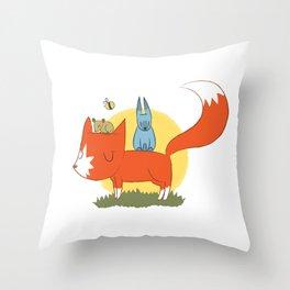 foxy friends. Throw Pillow