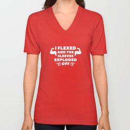 I Flexed Unisex V-Neck