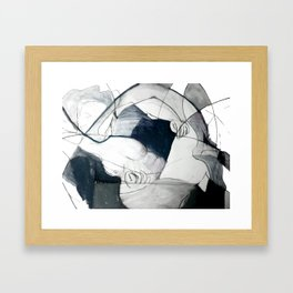 A Cameo Heart Framed Art Print