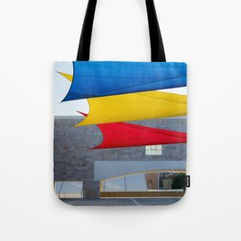 Blue Yellow Red Tote Bag