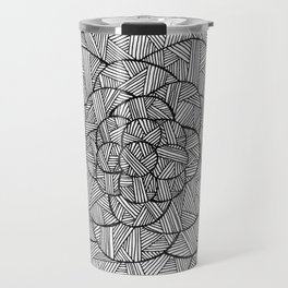 Crosshatched Flower Travel Mug