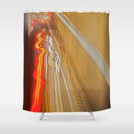 Lines of Light Shower Curtain