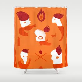 Firebirds Shower Curtain
