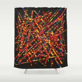 Mad For Autumn Plaid Shower Curtain