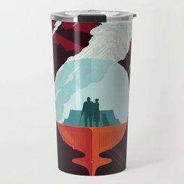 NASA Retro Space Travel Poster #3 - Enceladus Travel Mug
