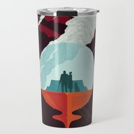 NASA Retro Space Travel Poster #3 - Enceladus Travel Mug
