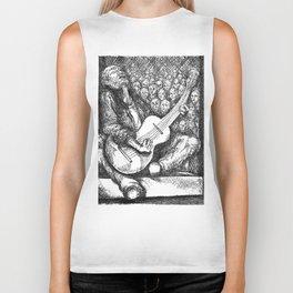 "Fine Art Print, ""Guitar Man"" Biker Tank"