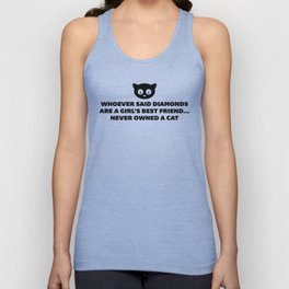 Woman's Best Friend Cat Funny Quote Unisex Tank Top