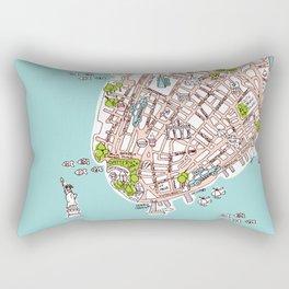 Fun New York City Manhattan street map illustration Rectangular Pillow