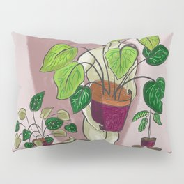 boys with love for plants illustration painting Pillow Sham
