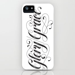 Glory Grace Tattoo iPhone Case