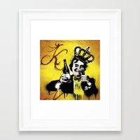 floyd Framed Art Prints featuring King Floyd  by Paul Collis