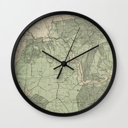 Vintage White Mountains New Hampshire Map (1915) Wall Clock