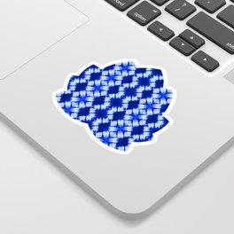 indigo shibori print Sticker