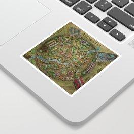 Astranella Map Sticker