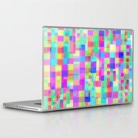 tetris Laptop & iPad Skins featuring Overlapping Tetris  by Saif Chowdhury