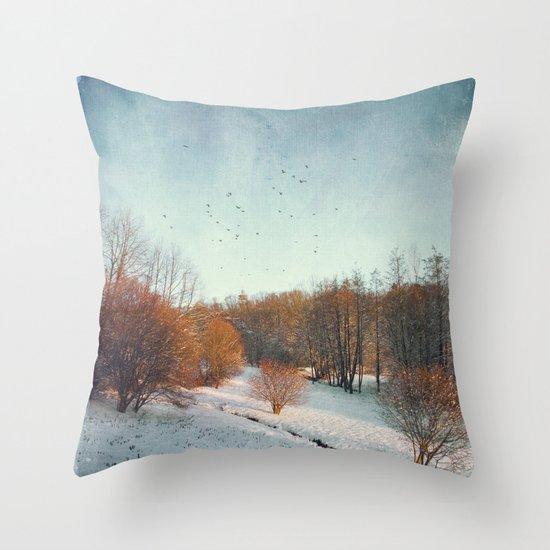 Trees in Winter II Throw Pillow
