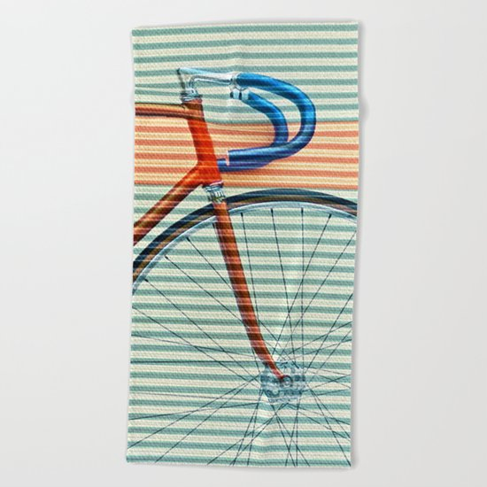 Standard Striped Bike Beach Towel