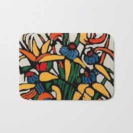 """Christmas Bulbs"" by Australian Artist Margaret Preston Bath Mat"