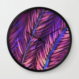 Foliage Fashionista Wall Clock