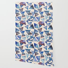 Triangle pattern watercolor painting Wallpaper