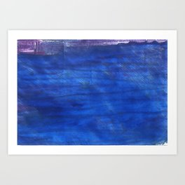 Denim Blue abstract watercolor background Art Print