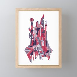 City of the Clowns - red Framed Mini Art Print