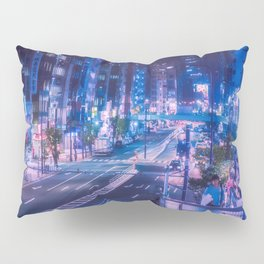 Shibuya night, purple and futuristic vibes Pillow Sham