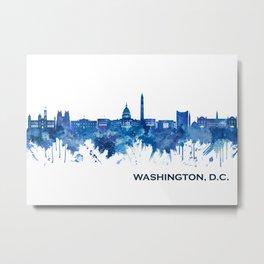 Washington D.C. USA Skyline Blue Metal Print