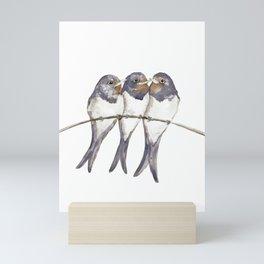 Three young swallows Mini Art Print