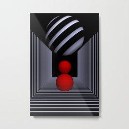 3D-geometry -15- Metal Print