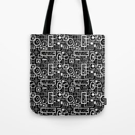 Rectangles and Elipses in BnW (2018) Tote Bag