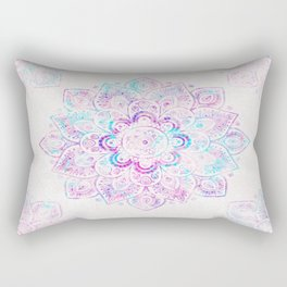 Winter Fiery Mandala Rectangular Pillow