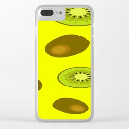 Kiwi fruit pattern Clear iPhone Case