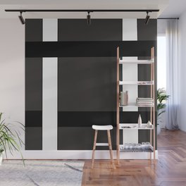 Black And Withe Grid Wall Mural