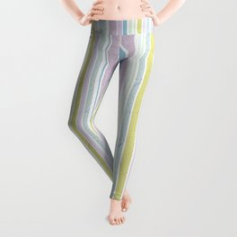 Multicoloured striped pattern in pastel shades Leggings