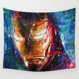 BRUSH STROKE IRONMAN Wall Tapestry