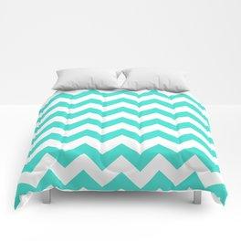 Chevron (Turquoise/White) Comforters