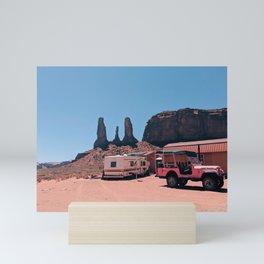 Pink Desert Monument Valley Mini Art Print