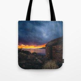 Southwest Lake Sunset Tote Bag
