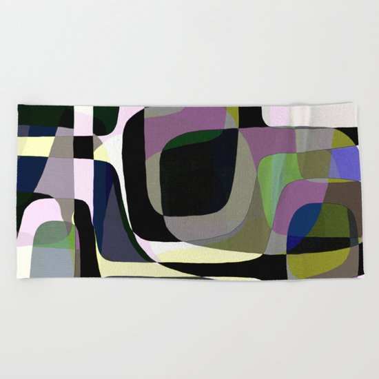 Mid Century Abstract 2 Beach Towel