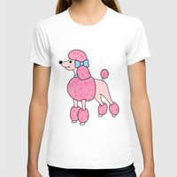 poodle T-shirts featuring Pink Poodle by Jade Boylan