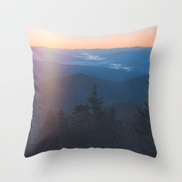 Sunrise in Smoky Mountains National Park Throw Pillow