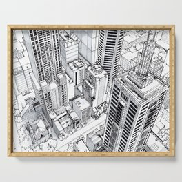 City view Serving Tray