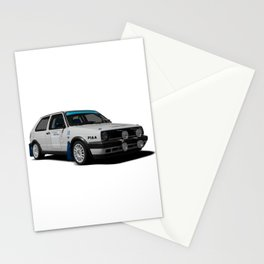 Golf rallycar Stationery Cards