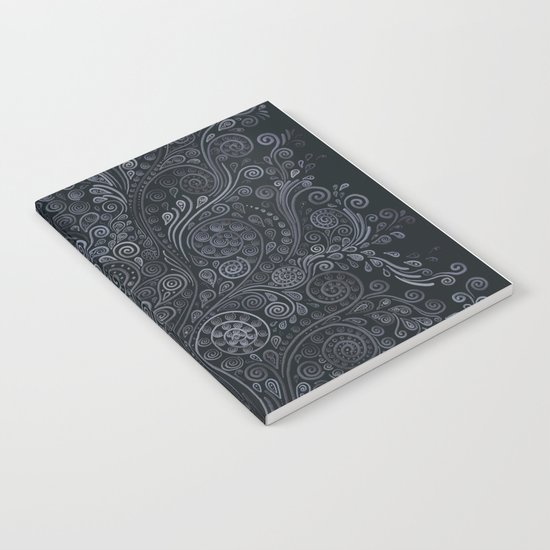 3D ornaments, soft blue Notebook
