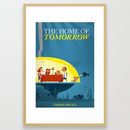 Undersea Home of Tomorrow Framed Art Print